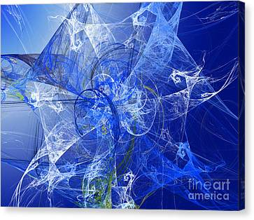 Sapphire In Blue Lace Canvas Print by Andee Design