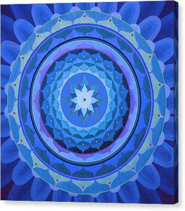 Sapphire Mandala Canvas Print by Vlatka Kelc