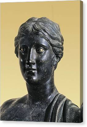 Sappho 612-545 Bc. Greek Art. Sculpture Canvas Print by Everett