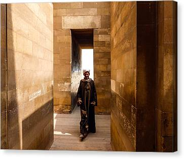 Canvas Print featuring the photograph Saqqara Temple by Anthony Baatz