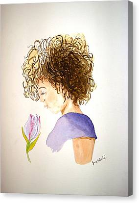 Sarah Canvas Print by June Holwell
