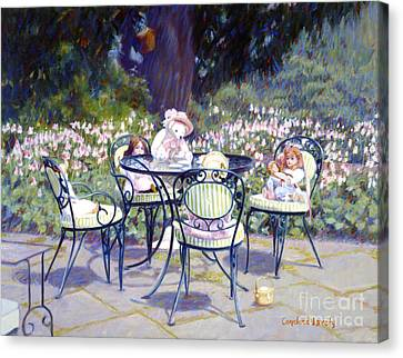 Sarah Marshall Serves Tea Canvas Print by Candace Lovely