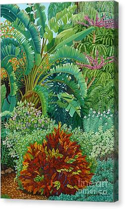 Sarasota Garden Canvas Print by Beverly Theriault