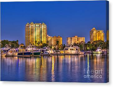 Ports Canvas Print - Sarasota Skyline by Marvin Spates