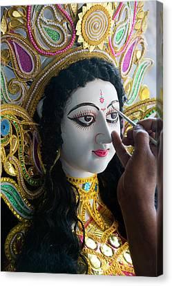 Sarasvati (female Hindu God Canvas Print