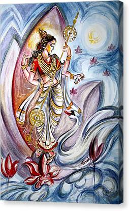Saraswati Canvas Print by Harsh Malik