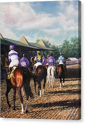 Saratoga Post Parade Canvas Print by Thomas Allen Pauly