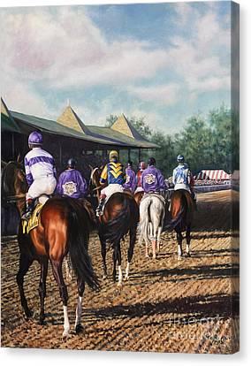 Saratoga Post Parade Canvas Print