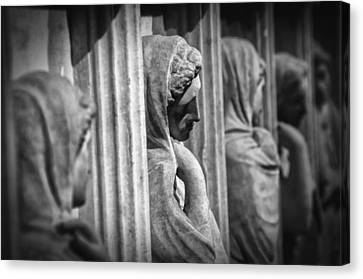 Sarcophagus Of The Crying Women Canvas Print by Taylan Apukovska