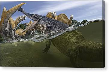 Sarcosuchus, Artwork Canvas Print