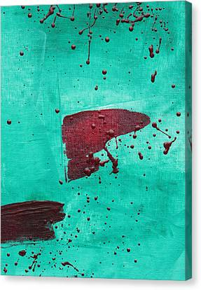 Canvas Print featuring the painting Sargasso Sea C2013 by Paul Ashby