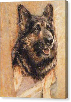 Sasha German Shepherd Canvas Print