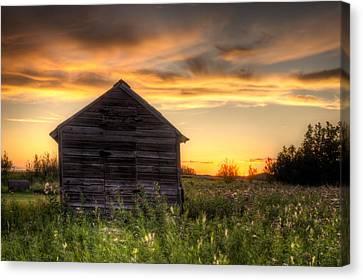 Saskatchewan Sunset Canvas Print by Matt Dobson