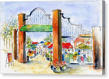 Saskatoon Farmers' Market Canvas Print