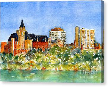 Saskatoon Panorama Canvas Print by Pat Katz