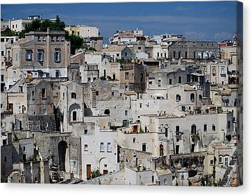 Sassi Of Matera Italy Canvas Print by Caroline Stella