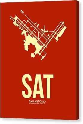 Sat San Antonio Airport Poster 2 Canvas Print by Naxart Studio