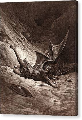 Satan Smitten By Michael Canvas Print by Litz Collection