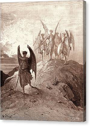Satan Vanquished, By Gustave Dore. Dore, 1832 - 1883 Canvas Print by Litz Collection