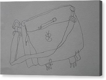 Canvas Print featuring the drawing Satchel by AJ Brown