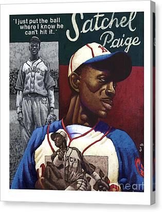 Satchel Paige Canvas Print by Keith Shepherd