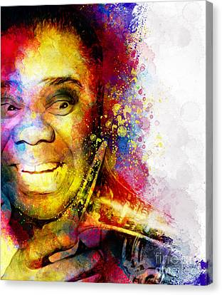 Satchmo Louis Armstrong Canvas Print by Shanina Conway