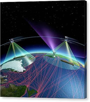 Satellite-based Ship Tracking System Canvas Print by Esa - P. Carril