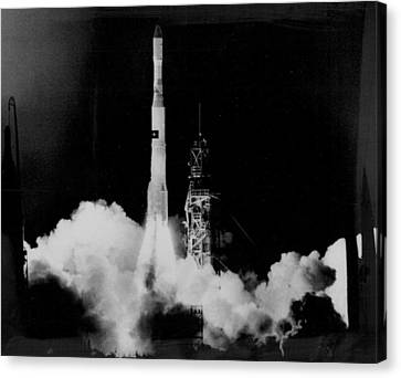 Satellite Launch Canvas Print by Retro Images Archive