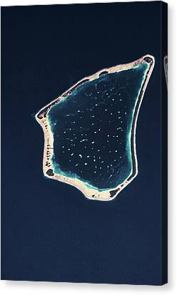 Satellite View Canvas Print - Satellite View Of A Group Of Islands by Panoramic Images