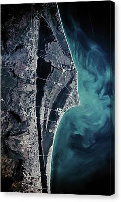 Satellite View Of Cape Canaveral Canvas Print