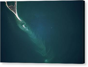 Satellite View Canvas Print - Satellite View Of Cape Lookout Area by Panoramic Images