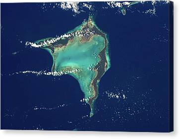 Satellite View Canvas Print - Satellite View Of Crooked Island by Panoramic Images