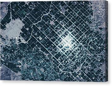 Satellite View Canvas Print - Satellite View Of Fields In Sonora by Panoramic Images