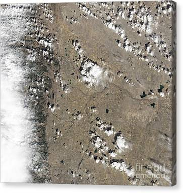 Fort Collins Canvas Print - Satellite View Of Fort Collins by Stocktrek Images