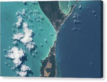 Satellite View Canvas Print - Satellite View Of North Eleuthera by Panoramic Images