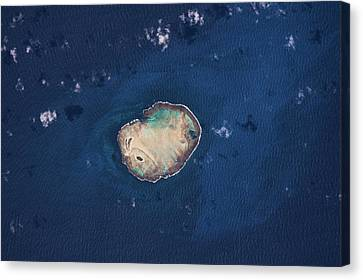 Roca Canvas Print - Satellite View Of Rocas Atoll In South by Panoramic Images