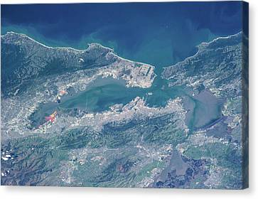 Satellite View Canvas Print - Satellite View Of San Francisco by Panoramic Images