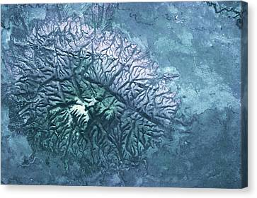 Satellite View Canvas Print - Satellite View Of Volcanic Mountain by Panoramic Images
