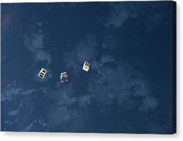 Satellites From The Iss Canvas Print