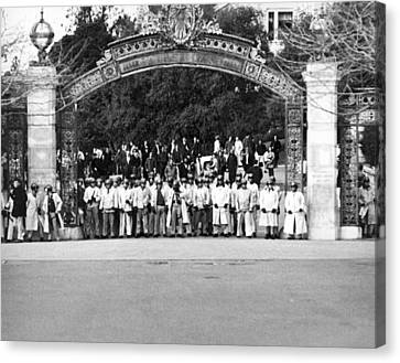 Police Officer Canvas Print - Sather Gate Confrontation by Underwood Archives Thornton