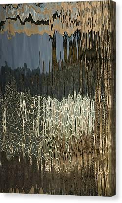 Satin Silk And Moire Abstract - Vertical Canvas Print by Georgia Mizuleva