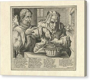 Satire On Hygiene, Crispijn Van De Passe Canvas Print by Crispijn Van De Passe (i)