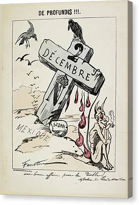 Pour Canvas Print - Satirical Caricature by British Library