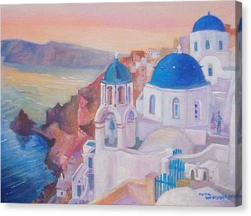 Santorini Greece Canvas Print by Paul Weerasekera