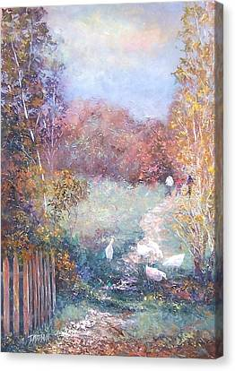 Impressionist Landscape Canvas Print - Saturday Afternoon Adventure by Jan Matson