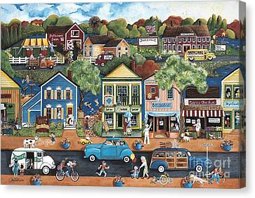 Saturday Afternoon In Judleville Canvas Print by Judy Redder