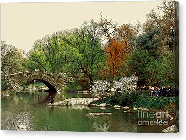 Saturday In Central Park Canvas Print by Linda  Parker