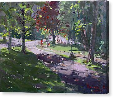 Saturday In The Park Canvas Print by Ylli Haruni