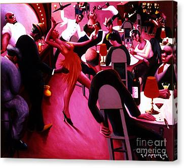 Saturday Night Canvas Print by Pg Reproductions