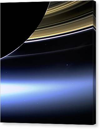 Canvas Print featuring the photograph Saturn 2 by Renee Anderson